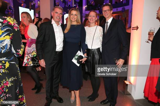 CEO of Lufthansa Carsten Spohr and his wife Vivian Spohr Prince Manuel of Bavaria and his wife Princess Anna of Bavaria during the PIN Party at...