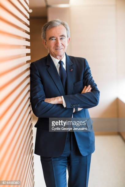 Of LVMH Bernard Arnault is photographed for Le Figaro on April 25, 2017 in Paris, France.