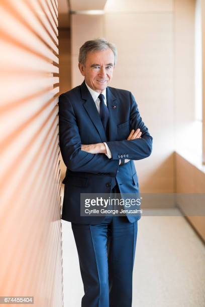 CEO of LVMH Bernard Arnault is photographed for Le Figaro on April 25 2017 in Paris France