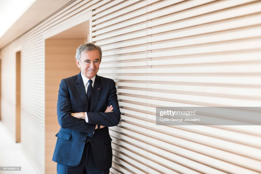 CEO of LVMH Bernard Arnault is photographed for Le Figaro on April 25, 2017 in Paris, France.