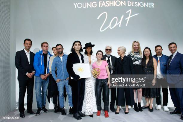 CEO of LVMH Fashion Group PierreYves Roussel Jury stylist JW Anderson stylist Phoebe Philo stylist Nicolas Ghesquiere Winner of the Special Prize...