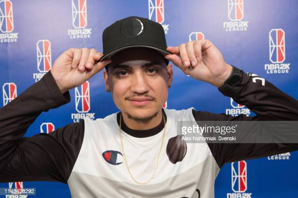 UCMANNY of Magic Gaming celebrates a victory over the Heat Check Gaming after the game during Week 8 of the NBA 2K League regular season on June 6...