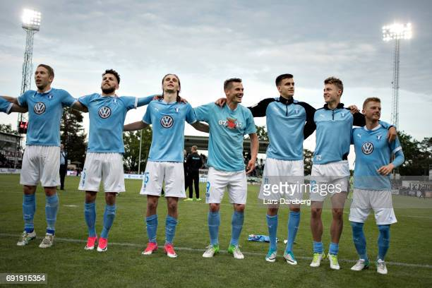 of Malmo FF after the Allsvenskan match between Jonkopings Sodra IF and Malmo FF at Stadsparksvallen on June 3 2017 in Jonkoping Sweden