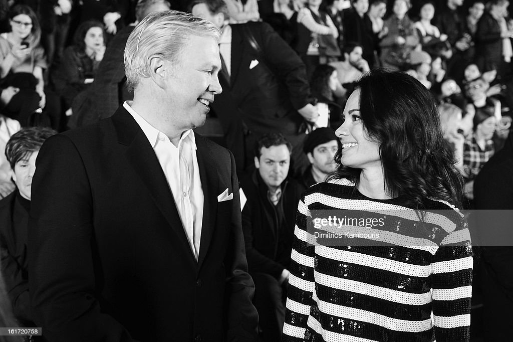 CEO of Marc Jacobs Robert Duffy and Doctor Lisa Airan attend the Marc Jacobs Collection Fall 2013 fashion show during Mercedes-Benz Fashion Week at New York Armory on February 14, 2013 in New York City.