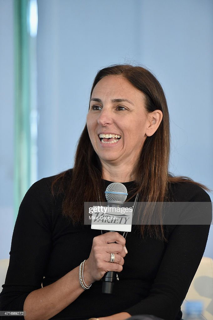 EVP of Marketing and Multiplatform Creative for MTV Tina Exarhos speaks onstage at Variety's Entertainment and Technology Summit NYC at Le Parker Meridien on April 30, 2015 in New York City.
