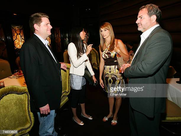 VP of Marketing for Vegascom Bryan Allison Marketing Coordinator for Vegascom Andrea Sun host of Vegas Minute Danielle Demski and Danny Greenspun...