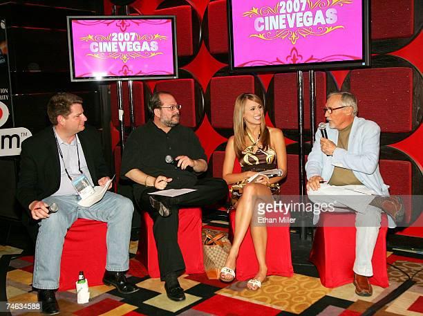 VP of Marketing for Vegascom Bryan Allison president of Vegascom Howard Lefkowitz Vegas Minute host Danielle Demski and actor and chair of the...