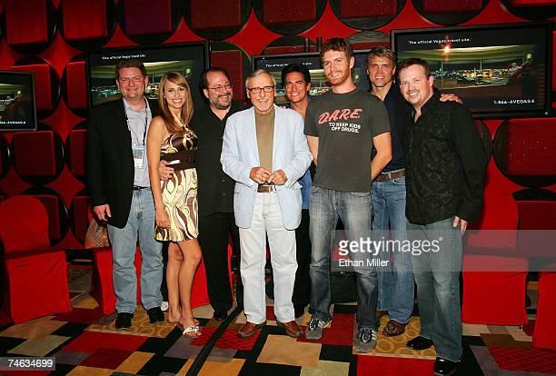 VP of Marketing for Vegascom Bryan Allison Vegas Minute host Danielle Demski president of Vegascom Howard Lefkowitz actor and chair of the CineVegas...