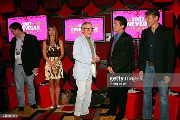 VP of Marketing for Vegascom Bryan Allison Vegas Minute host Danielle Demski actor and chair of the CineVegas creative advisory board Dennis Hopper...
