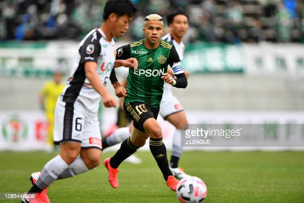 Of Matsumoto Yamaga looks on during the J.League Meiji Yasuda J2 match between Matsumoto Yamaga and Renofa Yamaguchi at Sunpro Alwin on November 01,...