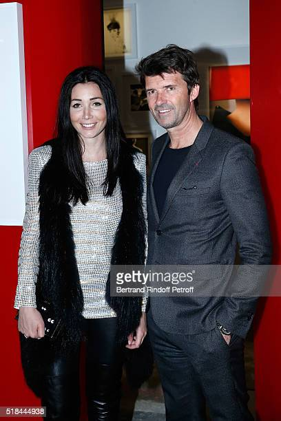 CEO of Mazarine Group and Founder of 'Studio des Acacias' PaulEmmanuel Reiffers and his wife Margaux attend the 'Guy Bourdin Portraits' Exhibition...