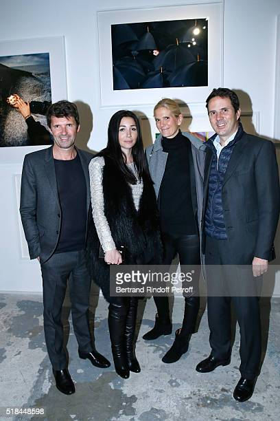 CEO of Mazarine Group and Founder of 'Studio des Acacias' PaulEmmanuel Reiffers and his wife Margaux with Ian Gallienne and his wife Segolene Frere...