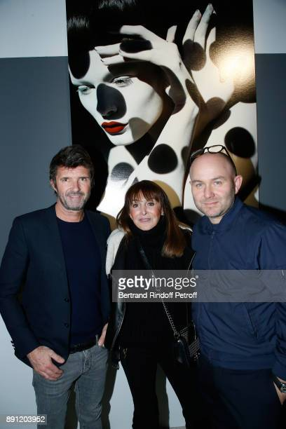 CEO of Mazarine Group PaulEmmanuel Reiffers Creator of the 'Numero magazine' Babeth Djian and Photographer Solve Sundsbo attend the 'Solve Sundsbo...