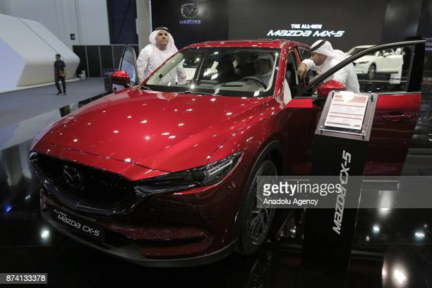 CX5 of Mazda is displayed during Dubai International Motor Show 2017 at Dubai World Trade Centre in Dubai United Arab Emirates on November 14 2017