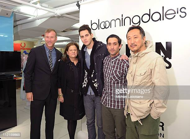 VP of Men's Fashion direction for Bloomingdale's Kevin Harter SVP of Public Relations for Bloomingdale's Anne Keating singer Gabe Saporta Morgan...
