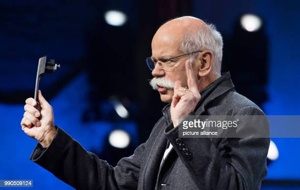 CEO of Mercedes Dieter Zetsche presents the new Gclass at the Michigan Theatre of Detroit US 15 January 2018 The GClass has been in Daimler's...