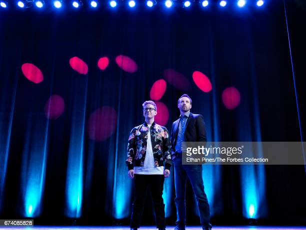 Of Mills Entertainment, Michael Mills and YouTube star Tyler Oakley are photographed for Forbes Magazine on March 21, 2017 at the Saban Theatre in...