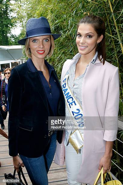 CEO of Miss France Company Sylvie Tellier and Miss France 2016 Iris Mittenaere attend Day Fifteen Men single's Final of the 2016 French Tennis Open...