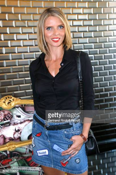 CEO of Miss France Company Sylvie Tellier attends the Jean Paul Gaultier Haute Couture Fall/Winter 20172018 show as part of Haute Couture Paris...