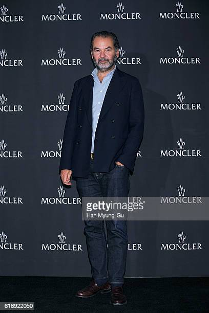 CEO of Moncler Remo Ruffini attends the photocall for MONCLER flagship store opening on October 28 2016 in Seoul South Korea