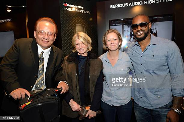 Of Monster Products Noel Lee, Martha Stewart, Jordan Crook and Tyson Beckford pose for a photo at the Monster Booth during day 2 of the 2014...