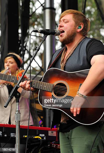 Of Monsters and Men perform at the Outside Lands Festival at Golden Gate Park on August 10 2012 in San Francisco California