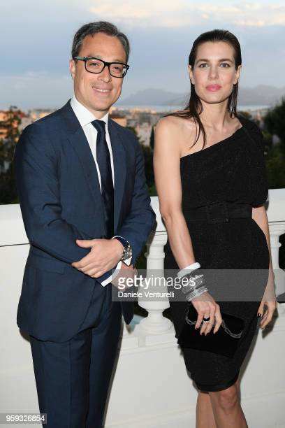CEO of Montblanc Nicolas Baretzki and Charlotte Casiraghi attend the Montblanc dinner hosted by Charlotte Casiraghi for the collection launch 'Les...