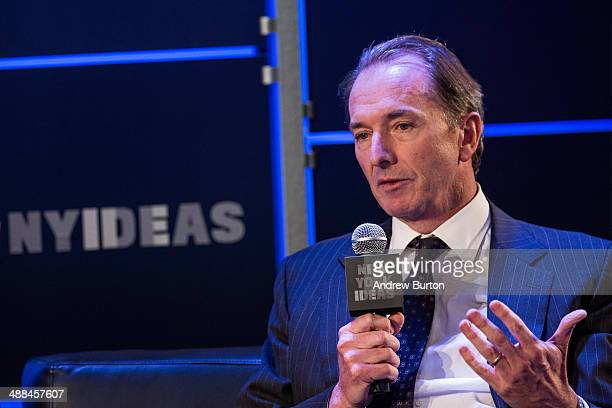 CEO of Morgan Stanley James Gorman speaks at New York Ideas on May 6 2014 in New York City New York Ideas is a conference that brings together...