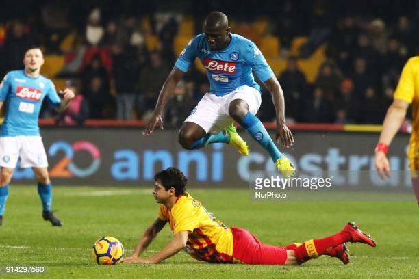 KOULIBALY of Napoli during the Italian Serie A football match SSC Napoli vs Benevento Calcio at Ciro Vigorito Stadium in Benevento on February 4 2018
