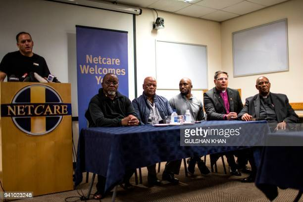 CEO of Netcare Hospital speaks to the media at a press conference confirming the death of South African antiapartheid campaigner Winnie...