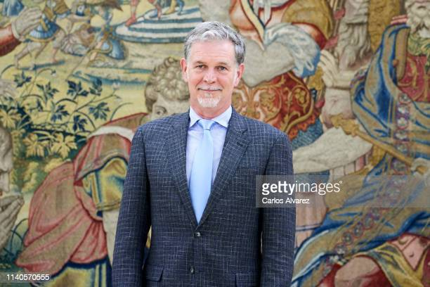 Of Netflix Mr Reed Hastings looks on before his meeting with King Felipe VI of Spain at the Zarzuela Palace on April 05 2019 in Madrid Spain