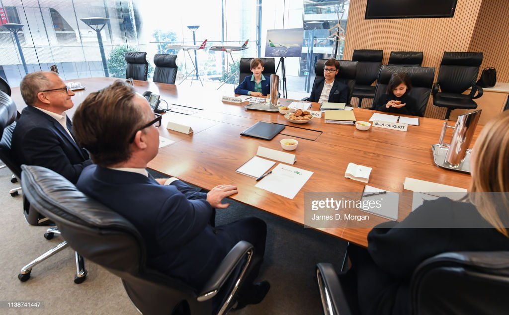 Qantas Hosts 10-Year-Old CEO For Airline Executive Summit : News Photo