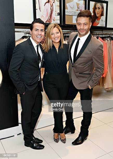 CEO of New York Company Greg Scott and Director of Public Relations NY Co Marielle Gelber and Alejandro Blanco attend the Eva Mendes Exclusively at...