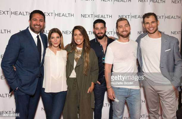 CEO of Next Health Darshan Shah MD actor Ashley Greene Riawna Capri Michael Turchin Lance Bass and Coowner of Next Health Kevin Peake attend the Next...