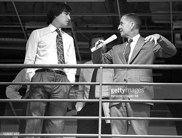 CEO of NeXT Steve Jobs and the NeXT Board of Directors have a meeting in the unfinished factory in Fremont CA in June 1987 NeXT investor Ross Perot...