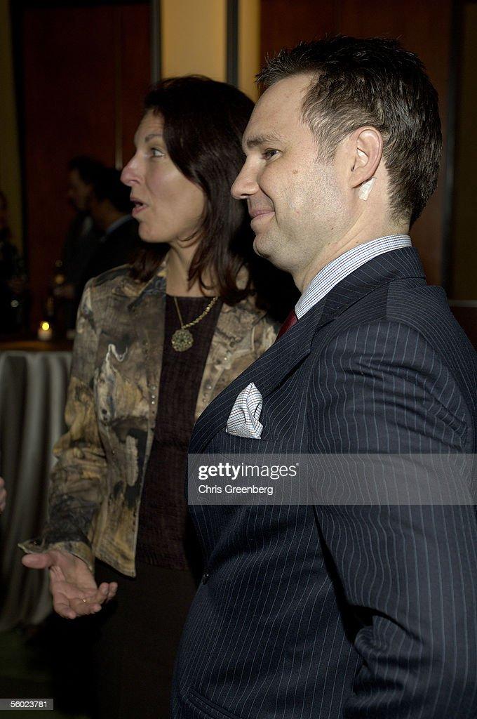 CEO Of Niche Media Jason Binn L Listens As Linda Roth Tells