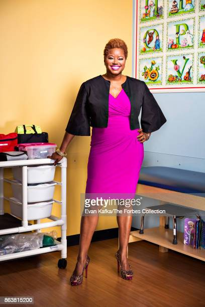CEO of Nightlight Pediatrics Zawadi Bryant is photographed for Forbes Magazine on April 5 2017 in Sugar Land Texas CREDIT MUST READ Evan Kafka/The...