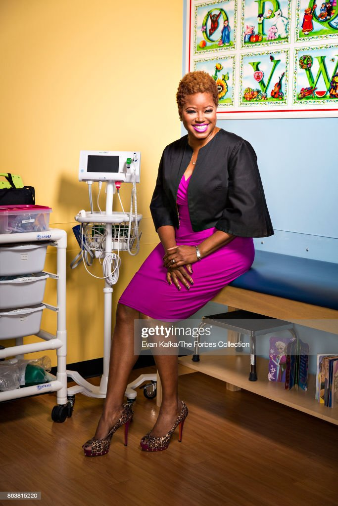 CEO Of Nightlight Pediatrics, Zawadi Bryant Is Photographed For Forbes  Magazine On April 5,