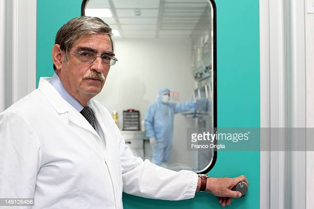 CEO of NSA srl chemical engineer Giovanni Calisesi poses at the NSA radiopharmaceutical plant on July 08 2011 in Aedea Rome Italy Nuclear Specialists...