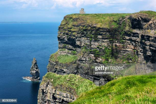 HDR of O'Brien's Tower at the Cliffs of Moher in County Clare, Ireland