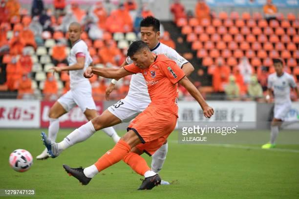 Of Omiya Ardija in action during the J.League Meiji Yasuda J2 match between Omiya Ardija and Tochigi SC at NACK5 Stadium Omiya on October 10, 2020 in...