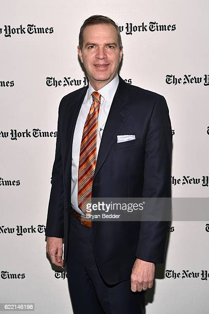 Of Oppenheimer Funds Art Steinmetz poses backstage at The New York Times DealBook Conference at Jazz at Lincoln Center on November 10, 2016 in New...