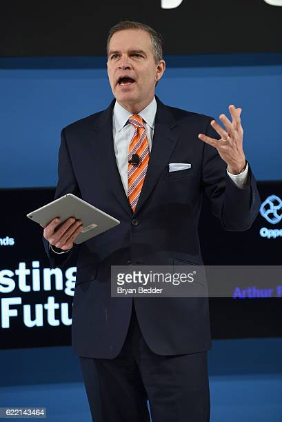 Of Oppenheimer Funds Art Steinmetz speaks at The New York Times DealBook Conference at Jazz at Lincoln Center on November 10, 2016 in New York City.