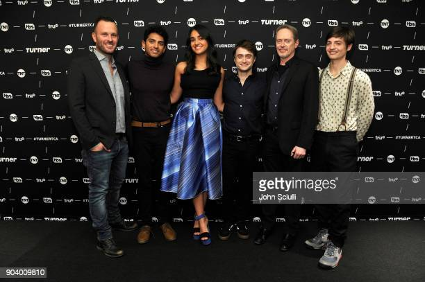 EVP of Original Programming at TBS Thom Hinkle actors Karan Soni Geraldine Viswanathan Daniel Radcliffe Steve Buscemi and Executive producer Simon...