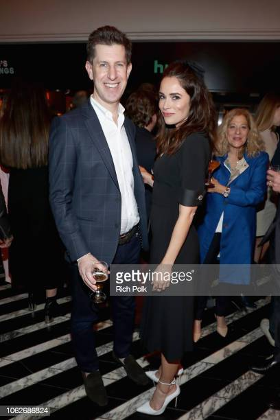 SVP of Originals Craig Erwich and Abigail Spencer attend the 2018 Hulu Holiday Party at Cecconi's Restaurant on November 16 2018 in Los Angeles...