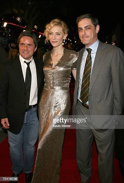 CEO of Paramount Pictures Brad Grey actress Cate Blanchett and President Paramount Vantage John Lesher arrive at the Paramount Vantage premiere of...