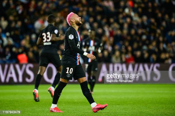 Of Paris Saint Germain during the French Ligue 1 Soccer match between Paris Saint-Germain and Montpellier HSC at Parc des Princes on February 1, 2020...