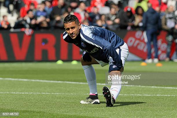 MARQUINHOS of Paris SaintGermain during the French League 1 match between EA Guingamp and Paris SaintGermain on April 9 2016 in Guingamp France