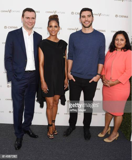CEO of Pernod Rickard Alexandre Rickard actor Halle Berry Founder of MissionU Adam Braun and Director of the Beeck Center Sonal Shah arrive at the...