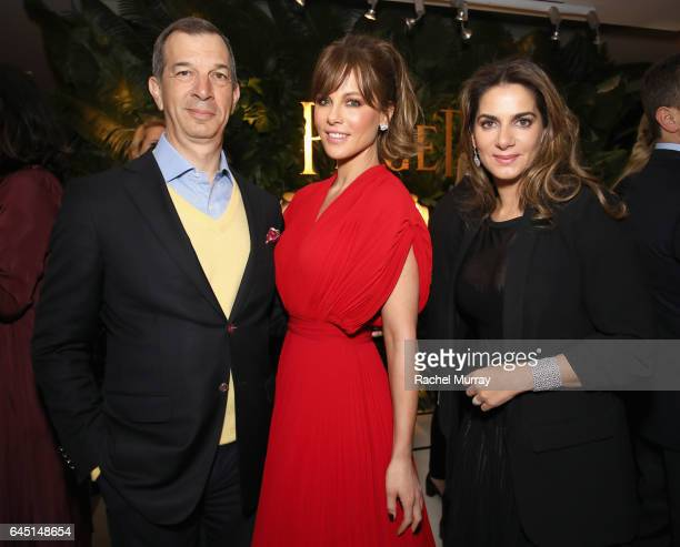 CEO of Piaget Philippe LeopoldMetzger Actress Kate Beckinsale and International Marketing and Communications Director at Piaget Chabi Nouri attend a...